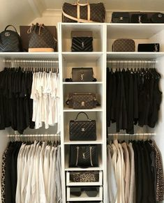 Walk In Closet Ideas - Do you need to whip your little walk-in closet into shape? You will certainly enjoy these 20 incredible tiny walk-in closet ideas as well as transformations for some . Master Closet, Closet Bedroom, Walk In Closet, Diy Bedroom, Interior Design Career, Decor Interior Design, Room Interior, White Wardrobe, Wardrobe Closet