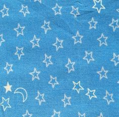 David Textiles blue stars 100 cotton fabric by BlueCraneQuiltShop
