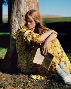 awesome Jean Campbell lives the simple life for Vogue UK March 2016 by Alasdair McLellan  [fashion]