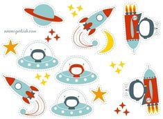 аппликации для детей Космическая тематика ракеты космонавт