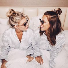When your life with one big pajama party with your bestie @devinbrugman and I shooting for our new @shopsonix X @abikiniaday Collab