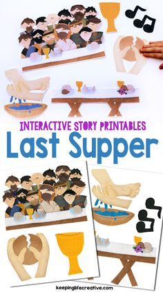 Make Bible learning fun and interactive with colorful Last Supper scripture story printables for the magnet board, flannel board, and more! Many other Bible stories also available!