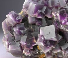 Purple Phantom Fluorite - China