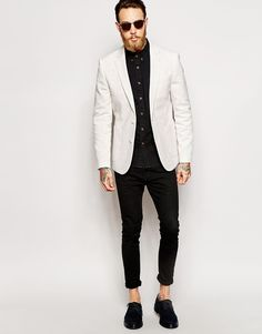 Image 4 of ASOS Skinny Fit Blazer In Jersey