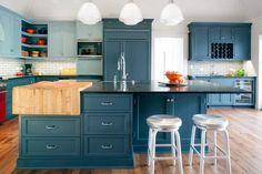 Beautiful Two-Toned Blue Kitchen Design --> http://blog.hgtv.com/design/2015/02/06/photo-friday-ive-got-the-blues/?soc=pinterest