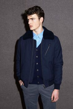 A.P.C. | Fall 2014 Menswear Collection | Style.com #collar #Sherpa #bomberjacket