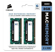 REVIEW! Corsair Apple Certified 8GB (2x4GB) DDR3 1333 MHz (PC3 10666) Laptop Memory (CMSA8GX3M2A1333C9) - Introduce what's new and future releases an updated daily