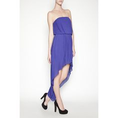 BCBGMAXAZRIA - BCBGENERATION PLEATED HIGH-LOW DRESS only $69!