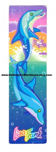 Lisa Frank Dancing Dolphins Bookmark by CollectorsWarehouse