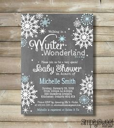 Winter Wonderland Boy Baby Shower Invite by SimplySweetPrintShop