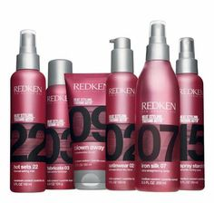 My hair thanks you Redken! the numbers represent its hold compared to water which has ZERO hold.the pink packaging represents that it has HEAT protection. Redken Hair Products, Plaits Hairstyles, Hot Tools, Water Spray, Styling Tools, Styling Products, Sprays, My Hair, Lotion