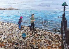 #upcycled magazine collage seaside picture   Kirstie Adamson @KAdamsonArtist