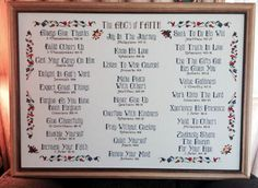 The ABC's of Faith stitched by Pam Jensen Cross Stitch Sampler Patterns, Cross Stitch Samplers, Cross Stitching, Bible Topics, Cross Stitch Quotes, Faith Scripture, Butterfly Cross Stitch, Favorite Bible Verses, Christmas Cross