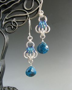 Butterfly Wing Chainmaille Earrings with by WolfstoneJewelry, $36.00