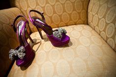 Wedding at the Chateau Briand in New York: Paula + John Purple Wedding Shoes, Purple Heels, Wedding List, Dream Wedding, Wedding Dress, All Things Purple, Dream Shoes, Me Too Shoes, Wedding Styles