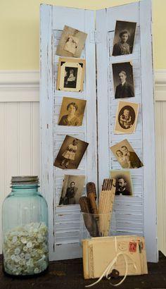 "Vintage Shutter....Shabby Love DIY: ""The Perfect Shade of Blue"" Repurposed Shutter Tutorial"