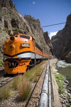 Royal Gorge..  Train ride through the Royal Gorge..  Canyon City, Colorado.  We've ridden this train.