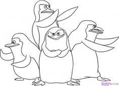 dibujos de los pinguinos de madagascar para colorear-2