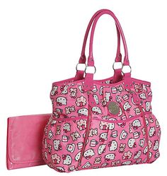 Hello Kitty Allover Print Front Zip Diaper Bag - Best Price
