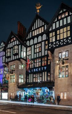 TO SEE :Liberty of London at Christmas. I love this store. Photo Jonathan Reid on Flickr