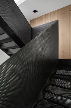 The renowned photographer Peter Krasilnikoff commissioned architecture practice Studio David Thulstrup for his private residence and studio in the Islands Brygge harbour-side district of Copenhagen. The guiding inspiration for the project evolved. Staircase Remodel, Staircase Railings, Stairways, Bannister, Spiral Staircases, Metal Stair Handrail, Staircase Metal, Steel Balustrade, Balustrades