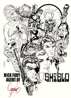 Jim Steranko SIGNED Marvel Comic Art Print ~ Nick Fury Agent of Shield | eBay