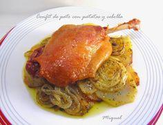 Les receptes del Miquel: Confit de pato con patatas y cebolla al horno y mi experiencia en el restaurante Tantarantan