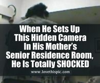 When He Sets Up This Hidden Camera In His Mother's Senior Residence Room, He Is Totally SHOCKED