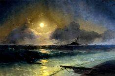 картина Айвазовского Восход луны
