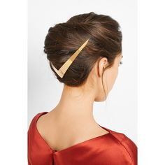 Lelet Trek Halo gold-plated hair slide ($420) ❤ liked on Polyvore featuring accessories, hair accessories, hair comb and hair comb accessories