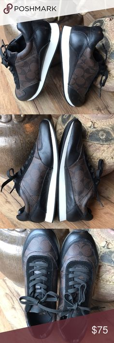 Coach Sneakers NEW! Condition! Only been worn once. Coach Shoes Sneakers
