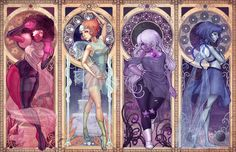 Steven Universe Art Nouveau by DreamerWhit on @DeviantArt