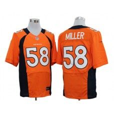 Nike Von Miller Jersey Elite Team Color Orange Denver Broncos #58