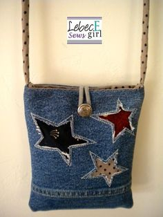 Denim Purse from old jeans Sacs Tote Bags, Denim Purse, Denim Ideas, Denim Crafts, Recycled Denim, Old Jeans, Fabric Bags, Purses And Bags, Reverse Applique