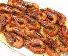 Día a día: Gambas al horno Spanish Kitchen, Spanish Food, Healthiest Seafood, Fish Dishes, Fish And Seafood, Diy Food, Italian Recipes, Italian Foods, Tapas