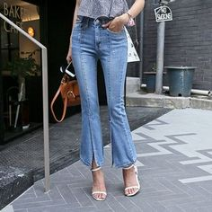 Buy 'DABAGIRL – Slit-Hem Boot-Cut Jeans' with Free International Shipping at YesStyle.com. Browse and shop for thousands of Asian fashion items from South Korea and more!