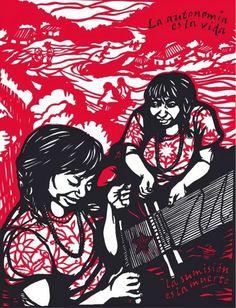 ZAPATISMO O BARBARIE. Apuntes sobre el movimiento zapatista chiapaneco (Marcelo Fernández, libro, pdf) Nottingham Contemporary, We Can Do It, Mexican Art, Power Girl, Stencils, Darth Vader, Collage, Draw, America