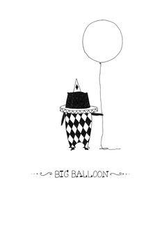 circus clown. cute illustration