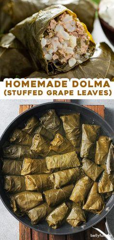 Now you can make stuffed grape leaves (also know as dolma or dolmades) at home! This delicious and healthy recipe is made with rice, ground beef, fresh herbs, and wonderful spices. They can be prepared as an appetizer, snack, or dinner, served warm, room temperature, or cold.