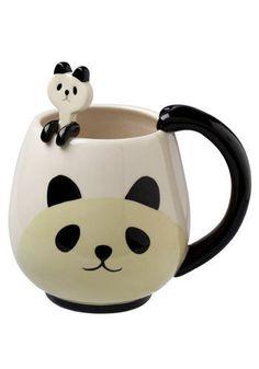 Panda Fancy Mug Set | Mod Retro Vintage Kitchen | ModCloth.com