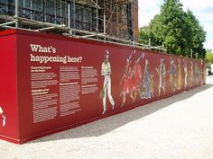 Hampton Court Digital Printed Hoarding Panels: Works as a piece which you can…
