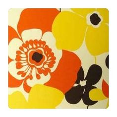 retro floral print. I want to get a poppy flower on my foot!