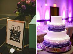 Beautiful #purple #ombre ruffle cake found on everylastdetailblog.com @Lauren Davison Davison Grove