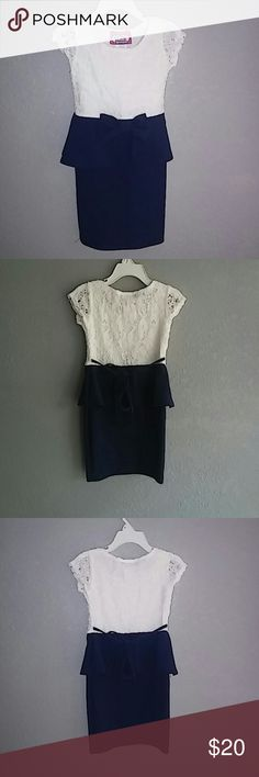 Adorable peplum dress size 4 NWOT I purchased this dress and it didn't fit my little one.unfortunately i had removed tags and threw away receipt by accident. Your little one will feel beautiful I this little stylish dress.???? 2 princess Dresses Formal