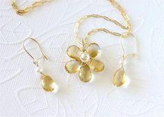 November Birthstone Flower Necklace and by LemonDreamHouse on Etsy, $55.00