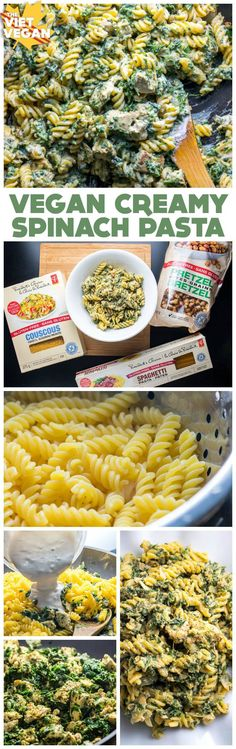 This crowd-pleasing vegan, gluten-free creamy spinach pasta with vegan chicken is the perfect dinner that everyone can enjoy #CompromiseFree :)