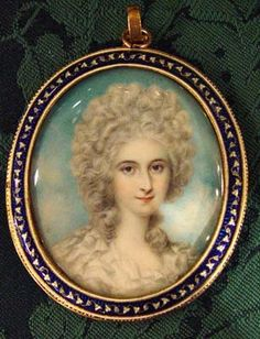 An English Portrait Miniature of a Lady, By Richard Cosway, Circa 1790
