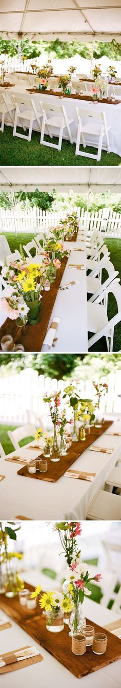 Long Table Center Piece Ideas