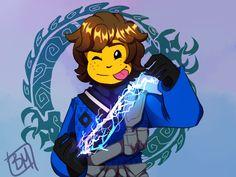 TheBunnyMuse — Lightning ninja boy Jay is finished! Jay Ninjago, Lego Ninjago Lloyd, Ninjago Memes, Jay Walker, He's Beautiful, Legos, Art Sketches, Random Things, Random Stuff