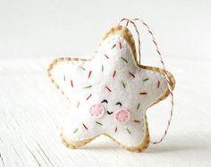 PDF Pattern Sugar Cookie Star Christmas Ornament by Bauldemalinka